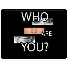 Who Are You Fleece Blanket (large)  by Valentinaart