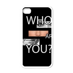 Who Are You Apple Iphone 4 Case (white) by Valentinaart
