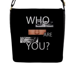 Who Are You Flap Messenger Bag (l)  by Valentinaart