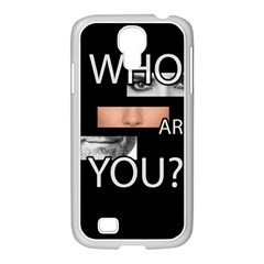 Who Are You Samsung Galaxy S4 I9500/ I9505 Case (white) by Valentinaart