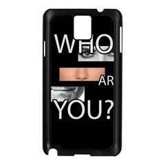 Who Are You Samsung Galaxy Note 3 N9005 Case (black) by Valentinaart