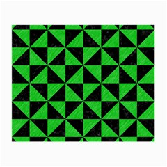 Triangle1 Black Marble & Green Colored Pencil Small Glasses Cloth (2 Side) by trendistuff