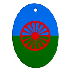 Gypsy Flag Ornament (oval) by Valentinaart