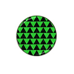 Triangle2 Black Marble & Green Colored Pencil Hat Clip Ball Marker by trendistuff