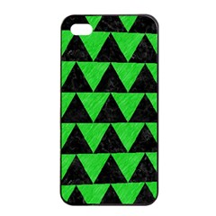 Triangle2 Black Marble & Green Colored Pencil Apple Iphone 4/4s Seamless Case (black) by trendistuff