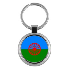 Gypsy Flag Key Chains (round)  by Valentinaart