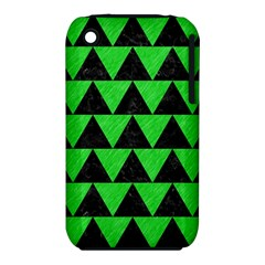 Triangle2 Black Marble & Green Colored Pencil Iphone 3s/3gs by trendistuff
