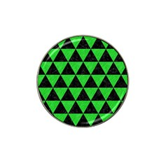 Triangle3 Black Marble & Green Colored Pencil Hat Clip Ball Marker by trendistuff