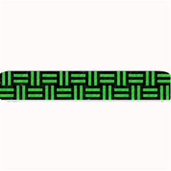 Woven1 Black Marble & Green Colored Pencil Small Bar Mats by trendistuff