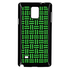 Woven1 Black Marble & Green Colored Pencil Samsung Galaxy Note 4 Case (black) by trendistuff
