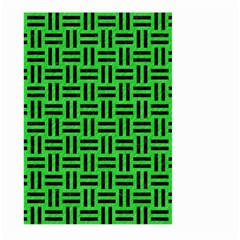 Woven1 Black Marble & Green Colored Pencil (r) Large Garden Flag (two Sides) by trendistuff