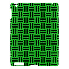 Woven1 Black Marble & Green Colored Pencil (r) Apple Ipad 3/4 Hardshell Case by trendistuff