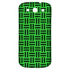 Woven1 Black Marble & Green Colored Pencil (r) Samsung Galaxy S3 S Iii Classic Hardshell Back Case by trendistuff
