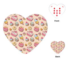 Sweet Pattern Playing Cards (heart)  by Valentinaart