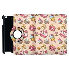 Sweet Pattern Apple Ipad 2 Flip 360 Case by Valentinaart