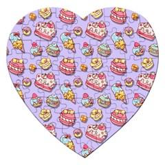 Sweet Pattern Jigsaw Puzzle (heart) by Valentinaart