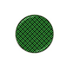 Woven2 Black Marble & Green Colored Pencil Hat Clip Ball Marker (10 Pack) by trendistuff