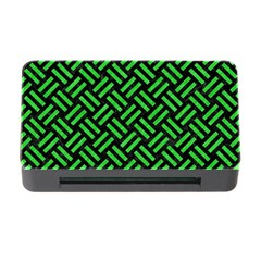 Woven2 Black Marble & Green Colored Pencil Memory Card Reader With Cf by trendistuff