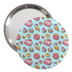 Sweet Pattern 3  Handbag Mirrors by Valentinaart