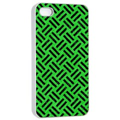 Woven2 Black Marble & Green Colored Pencil (r) Apple Iphone 4/4s Seamless Case (white) by trendistuff