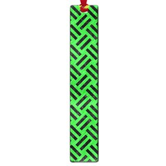 Woven2 Black Marble & Green Colored Pencil (r) Large Book Marks by trendistuff