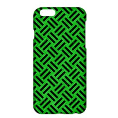 Woven2 Black Marble & Green Colored Pencil (r) Apple Iphone 6 Plus/6s Plus Hardshell Case by trendistuff
