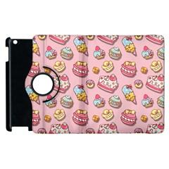 Sweet Pattern Apple Ipad 3/4 Flip 360 Case by Valentinaart
