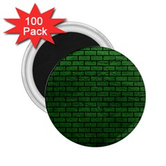 Brick1 Black Marble & Green Leather (r) 2 25  Magnets (100 Pack)  by trendistuff