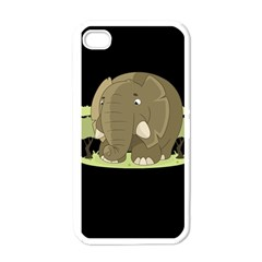 Cute Elephant Apple Iphone 4 Case (white) by Valentinaart