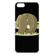 Cute Elephant Apple Iphone 5 Seamless Case (white) by Valentinaart