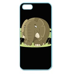 Cute Elephant Apple Seamless Iphone 5 Case (color) by Valentinaart