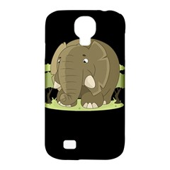 Cute Elephant Samsung Galaxy S4 Classic Hardshell Case (pc+silicone) by Valentinaart