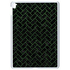 Brick2 Black Marble & Green Leather Apple Ipad Pro 9 7   White Seamless Case by trendistuff