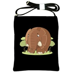 Cute Elephant Shoulder Sling Bags by Valentinaart
