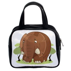Cute Elephant Classic Handbags (2 Sides) by Valentinaart