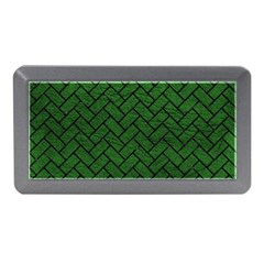 Brick2 Black Marble & Green Leather (r) Memory Card Reader (mini) by trendistuff