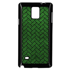 Brick2 Black Marble & Green Leather (r) Samsung Galaxy Note 4 Case (black) by trendistuff