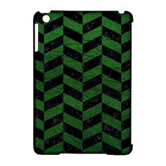 Chevron1 Black Marble & Green Leather Apple Ipad Mini Hardshell Case (compatible With Smart Cover) by trendistuff