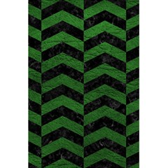 Chevron2 Black Marble & Green Leather 5 5  X 8 5  Notebooks