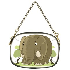 Cute Elephant Chain Purses (one Side)  by Valentinaart