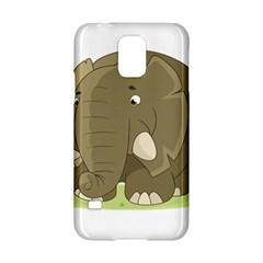Cute Elephant Samsung Galaxy S5 Hardshell Case  by Valentinaart