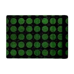 Circles1 Black Marble & Green Leather Ipad Mini 2 Flip Cases by trendistuff