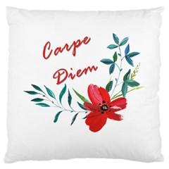 Carpe Diem  Large Cushion Case (one Side) by Valentinaart