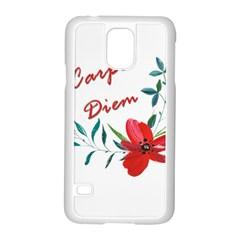 Carpe Diem  Samsung Galaxy S5 Case (white) by Valentinaart
