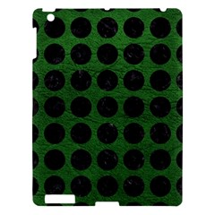 Circles1 Black Marble & Green Leather (r) Apple Ipad 3/4 Hardshell Case by trendistuff
