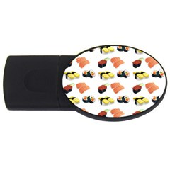 Sushi Pattern Usb Flash Drive Oval (2 Gb) by Valentinaart