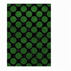 Circles2 Black Marble & Green Leather Large Garden Flag (two Sides) by trendistuff