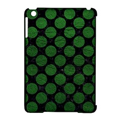 Circles2 Black Marble & Green Leather Apple Ipad Mini Hardshell Case (compatible With Smart Cover) by trendistuff