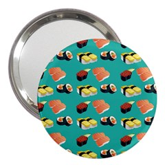 Sushi Pattern 3  Handbag Mirrors by Valentinaart