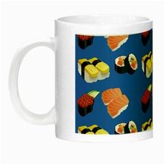 Sushi Pattern Night Luminous Mugs by Valentinaart